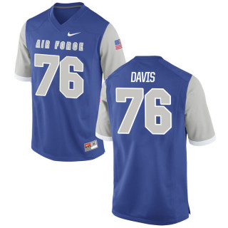 Men's  76 Game Royal Air Force Falcons Alumni Jersey | Blake Davis