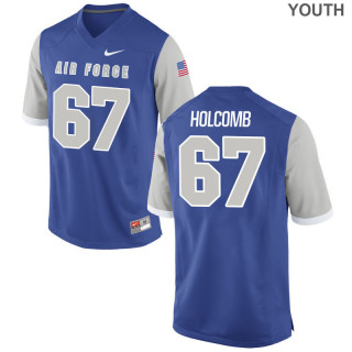 Youth  67 Game Royal Air Force Falcons Alumni Jersey | Tanner Holcomb